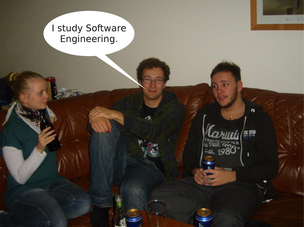 I study Software Engineering.