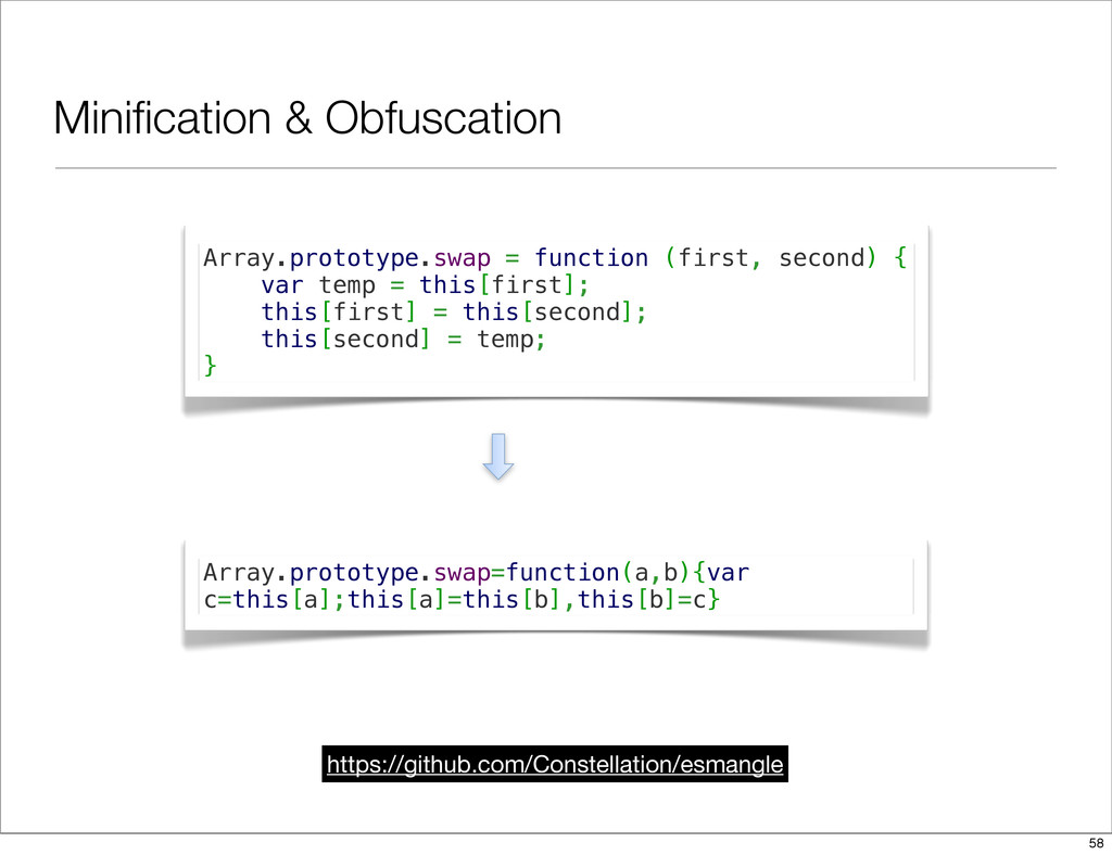 Minification & Obfuscation https://github.com/Co...