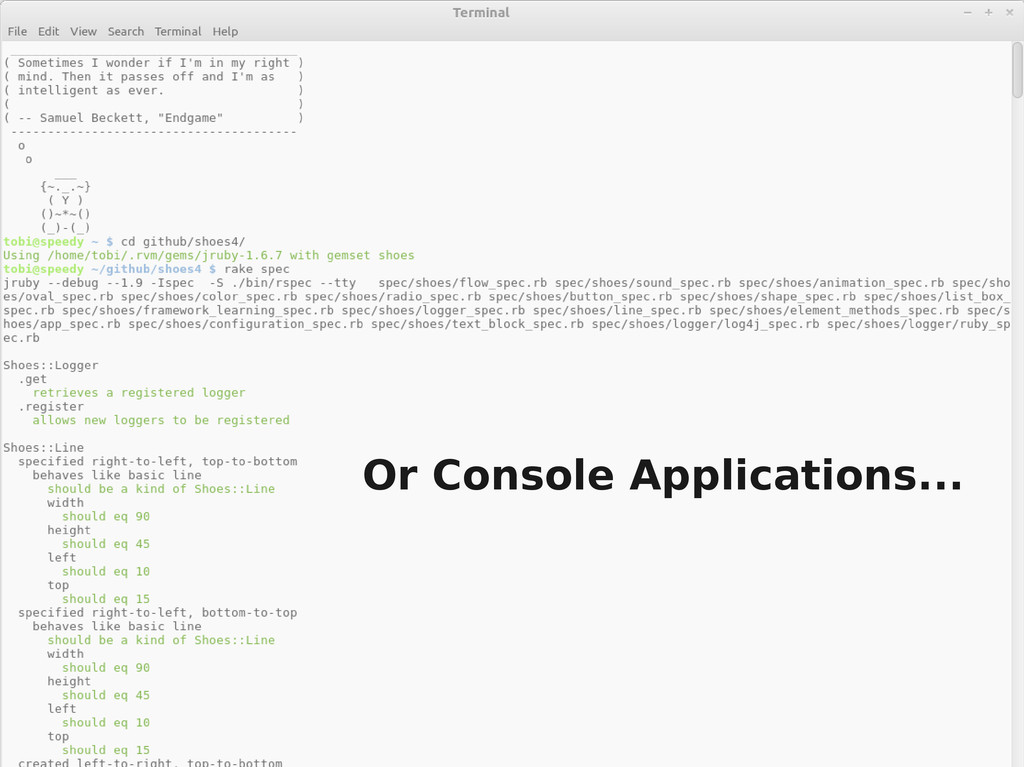 Console Screen shot Or Console Applications...