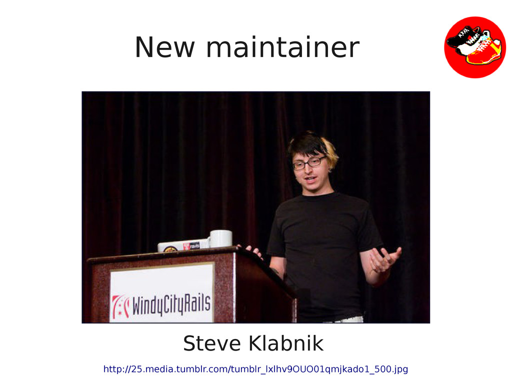 New maintainer Steve Klabnik http://25.media.tu...
