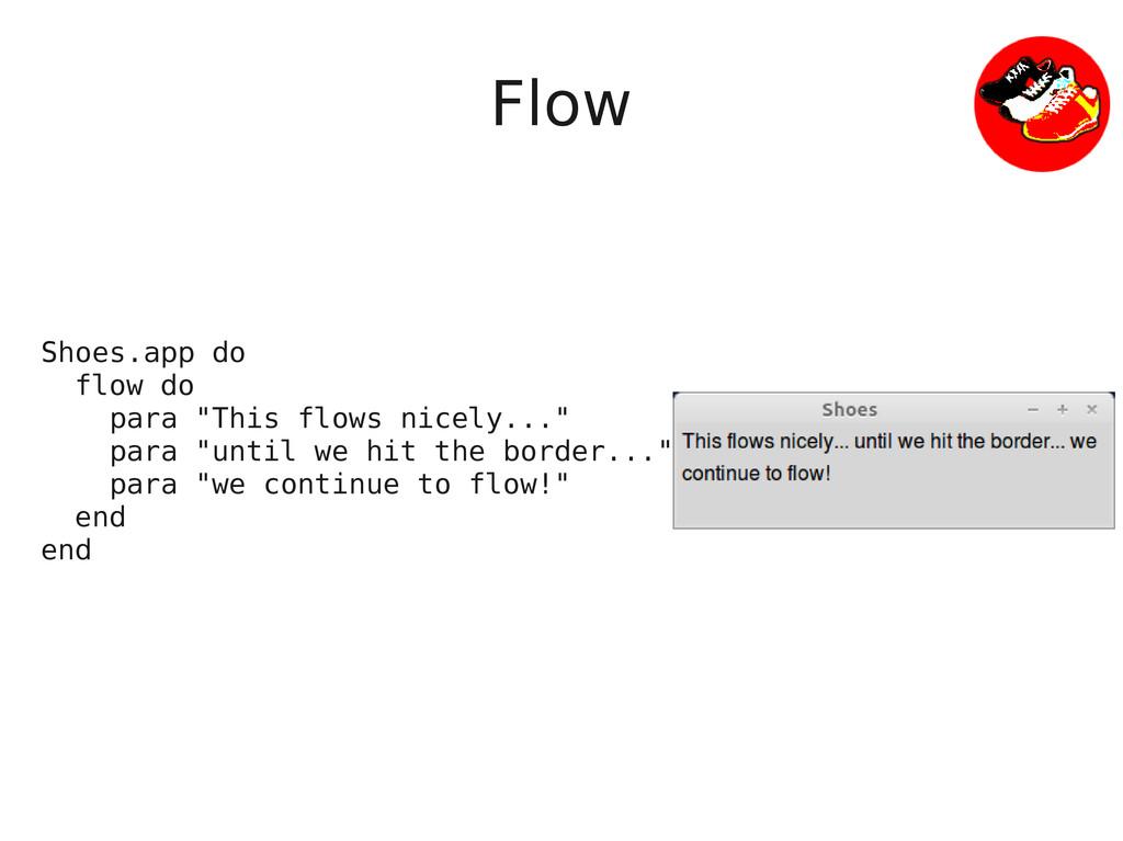 """Flow Shoes.app do flow do para """"This flows nice..."""