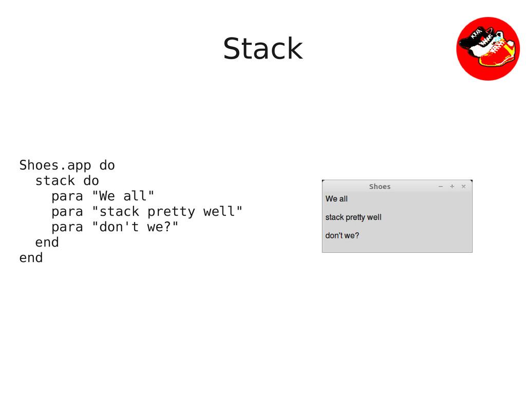 """Stack Shoes.app do stack do para """"We all"""" para ..."""