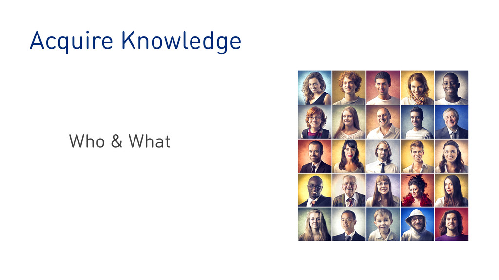 Acquire Knowledge Who & What