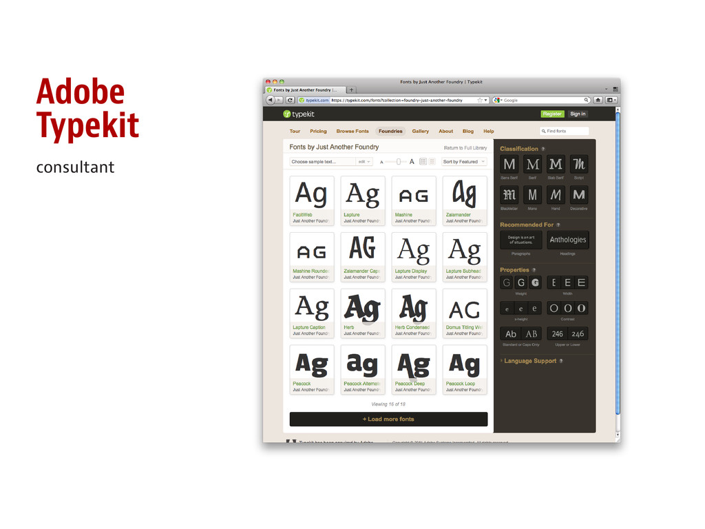 Adobe Typekit consultant