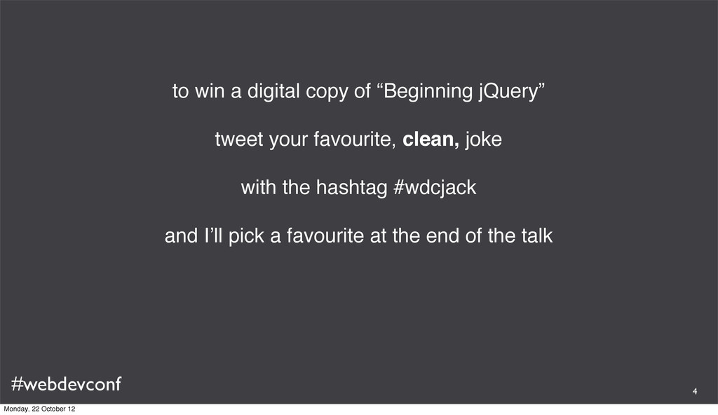 """#webdevconf to win a digital copy of """"Beginning..."""
