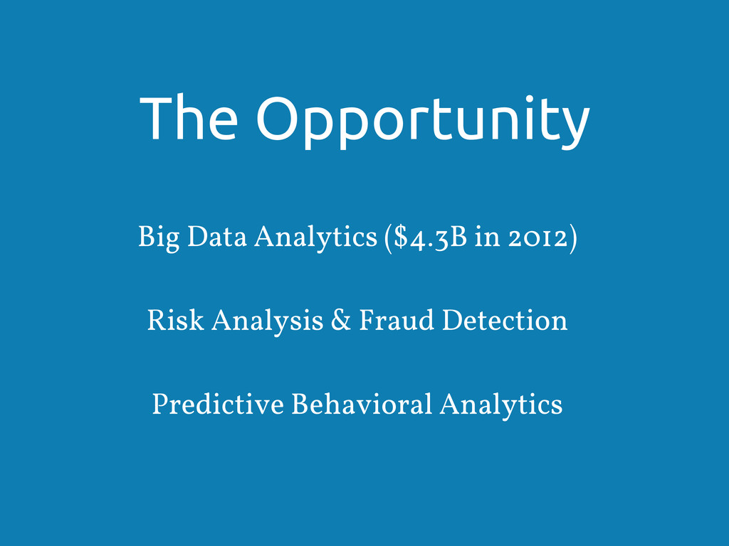 The Opportunity Big Data Analytics ($4.3B in 20...