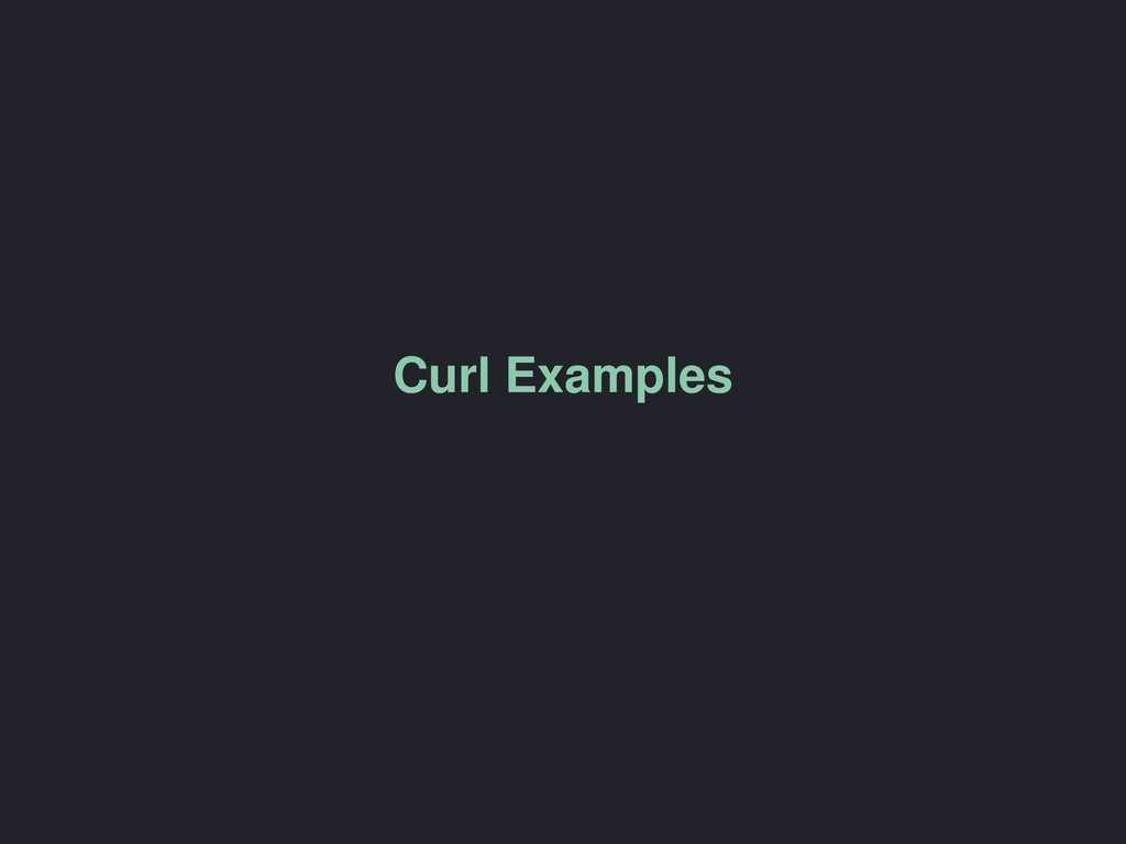 Curl Examples