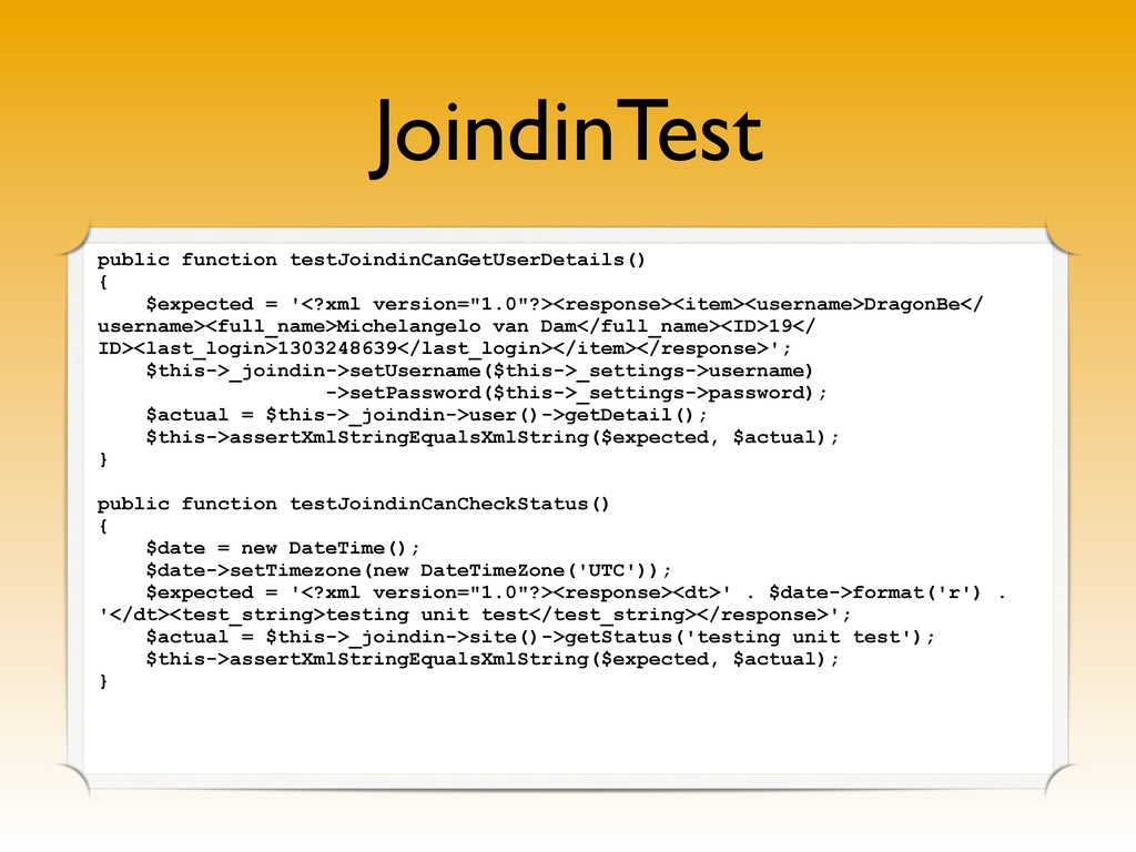 JoindinTest public function testJoindinCanGetUs...