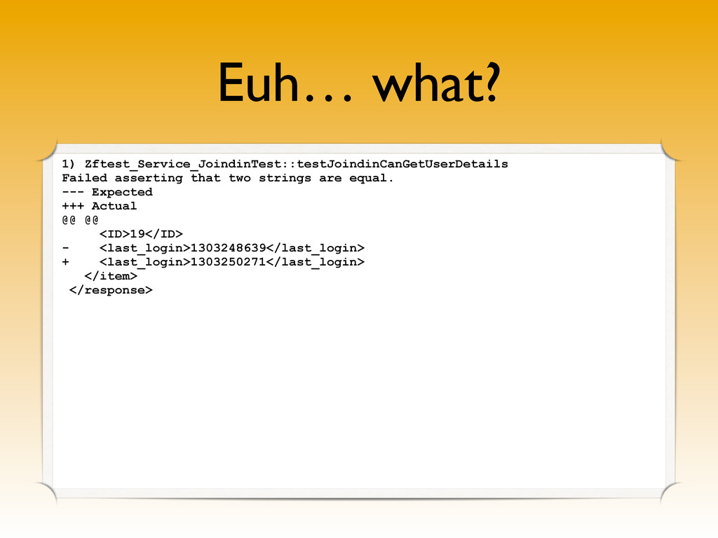 Euh… what? 1) Zftest_Service_JoindinTest::testJ...
