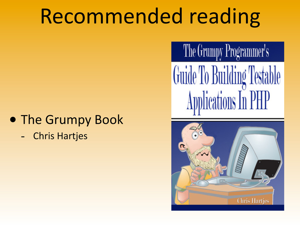 Recommended reading • The Grumpy Book ...