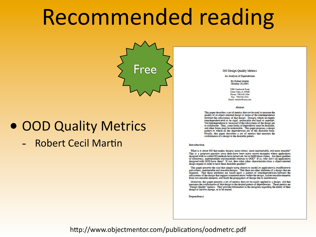 Recommended reading • OOD Quality Metr...