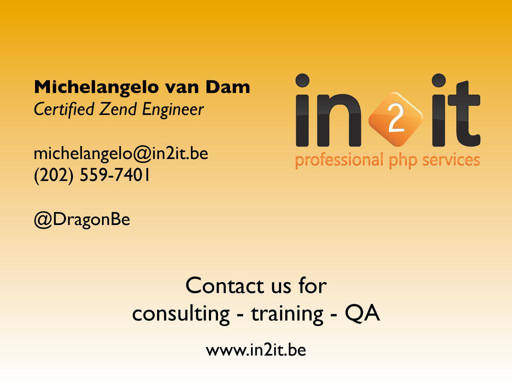Michelangelo van Dam Certified Zend Engineer mic...