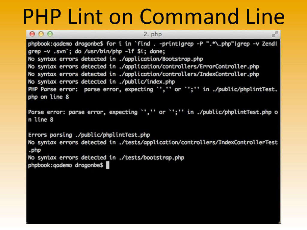 PHP Lint on Command Line