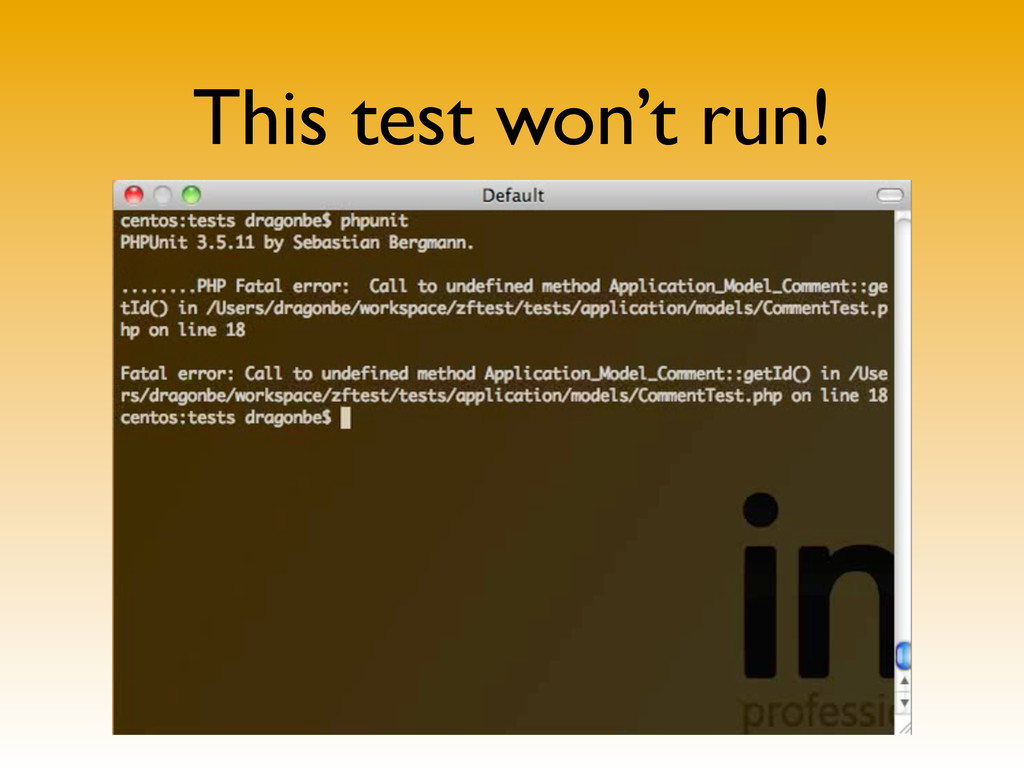 This test won't run!