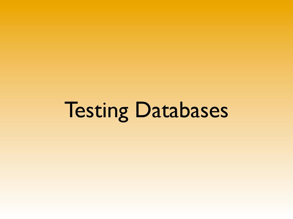 Testing Databases