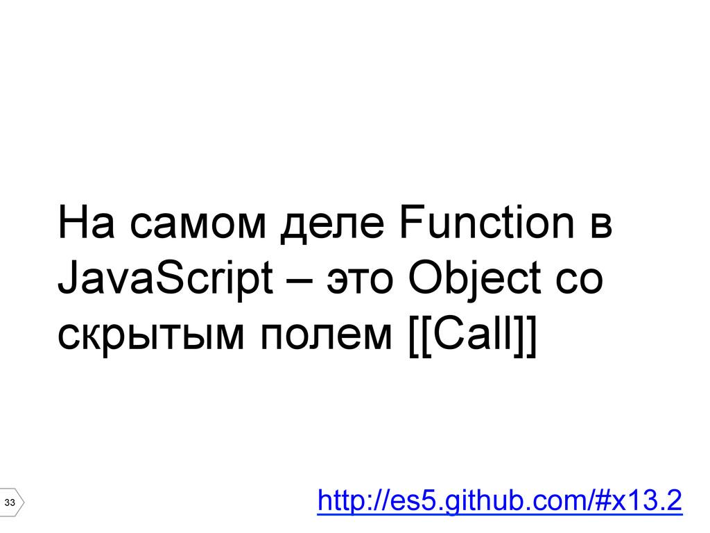 33 На самом деле Function в JavaScript – это Ob...