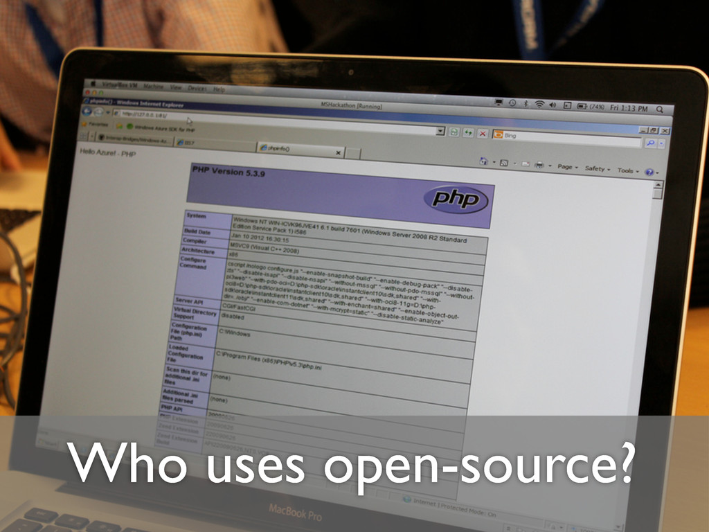 Who uses open-source?