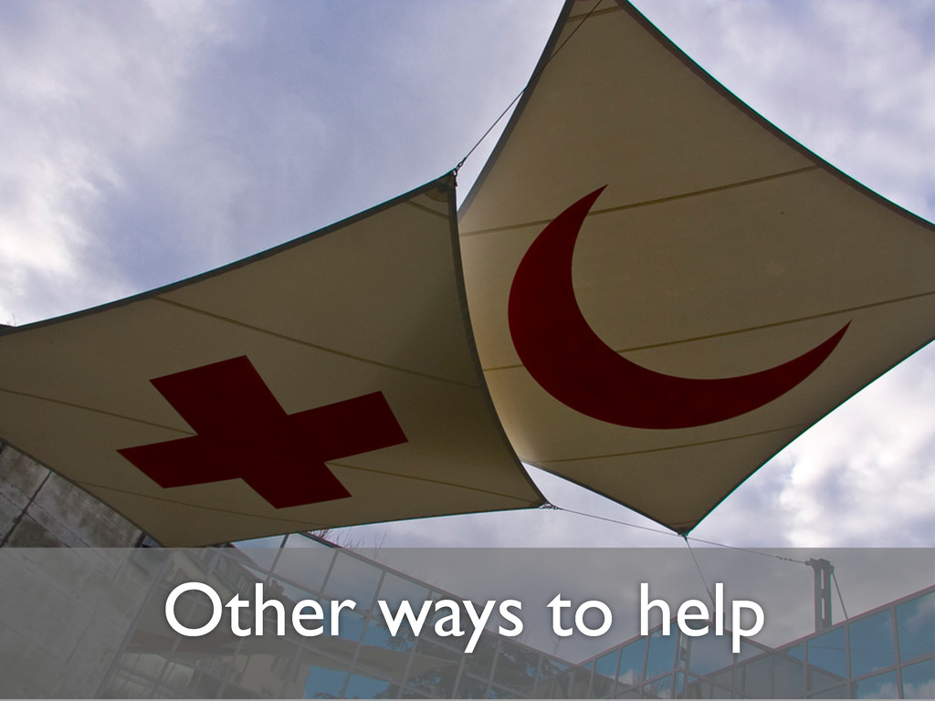 Other ways to help