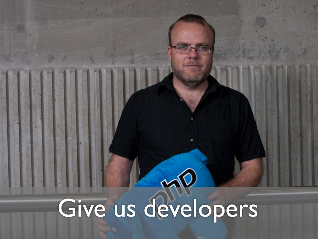 Give us developers
