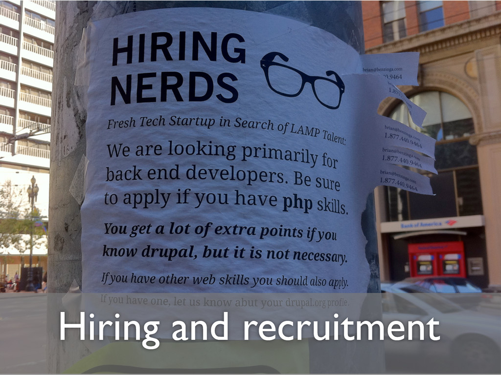 Hiring and recruitment