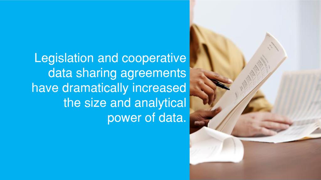 Legislation and cooperative data sharing agreem...
