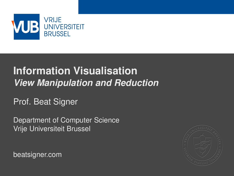 2 December 2005 Information Visualisation View ...