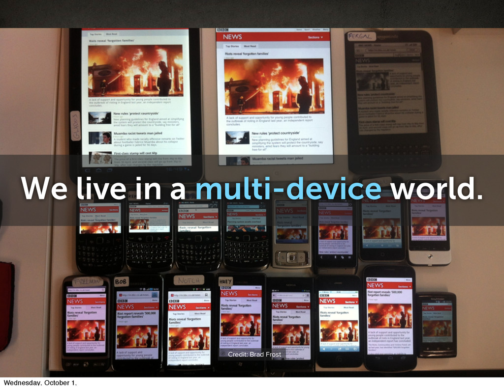 We live in a multi-device world. Credit: Brad F...