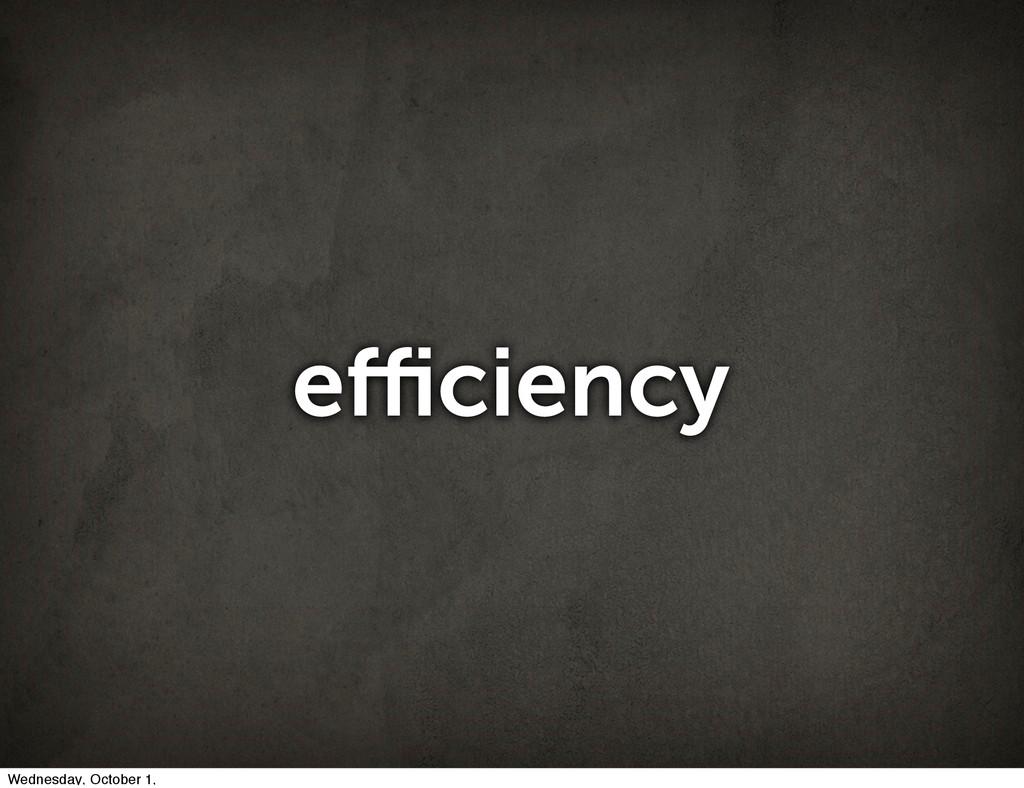 efficiency Wednesday, October 1,