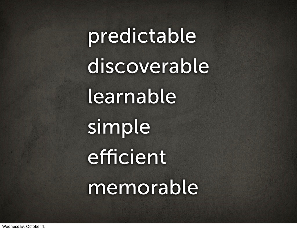 predictable discoverable learnable simple efficie...