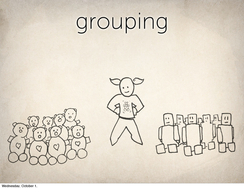 grouping Wednesday, October 1,