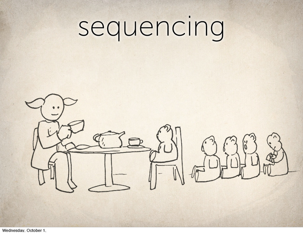 sequencing Wednesday, October 1,