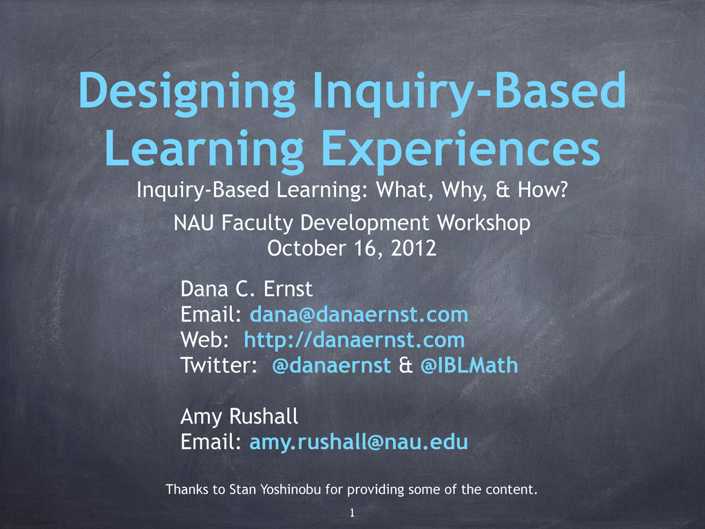 Designing Inquiry-Based Learning Experiences In...