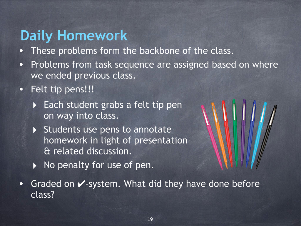 Daily Homework • These problems form the backbo...