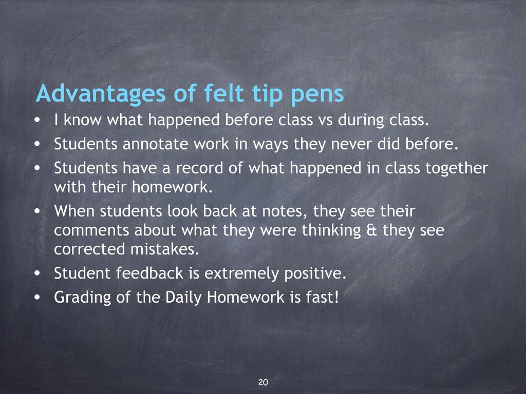 Advantages of felt tip pens • I know what happe...