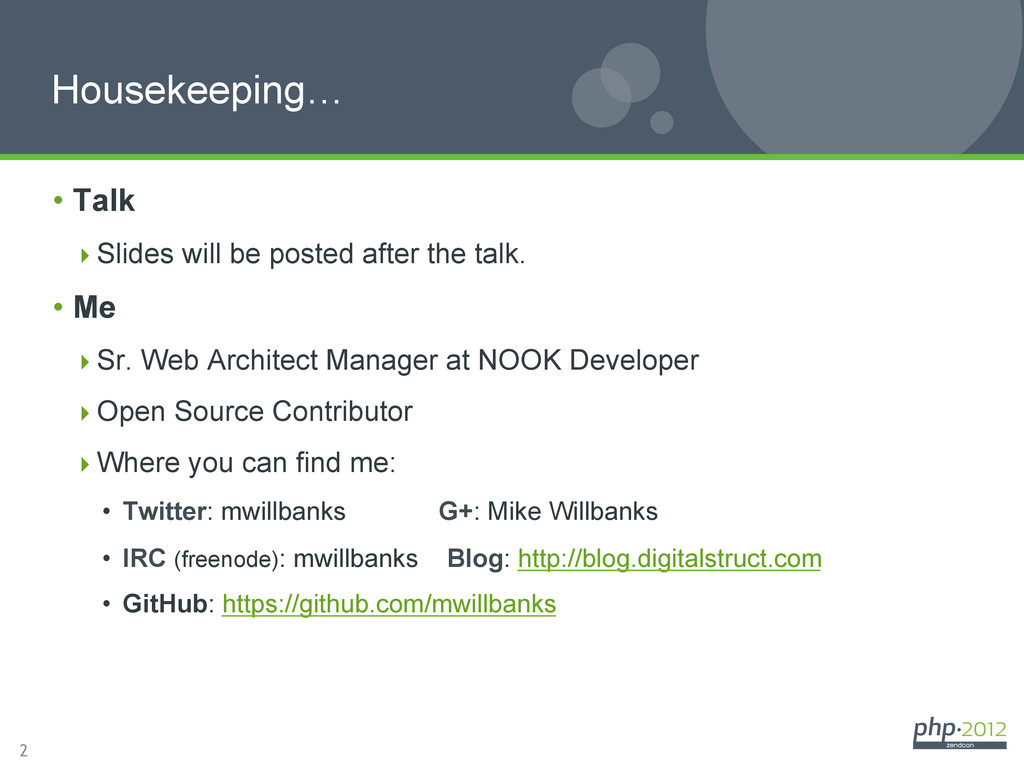 2 Housekeeping… • Talk Slides will be posted...