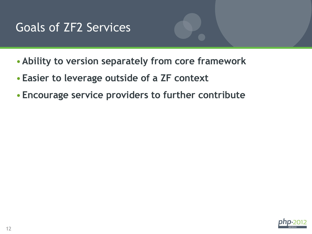 12 •Ability to version separately from core fr...