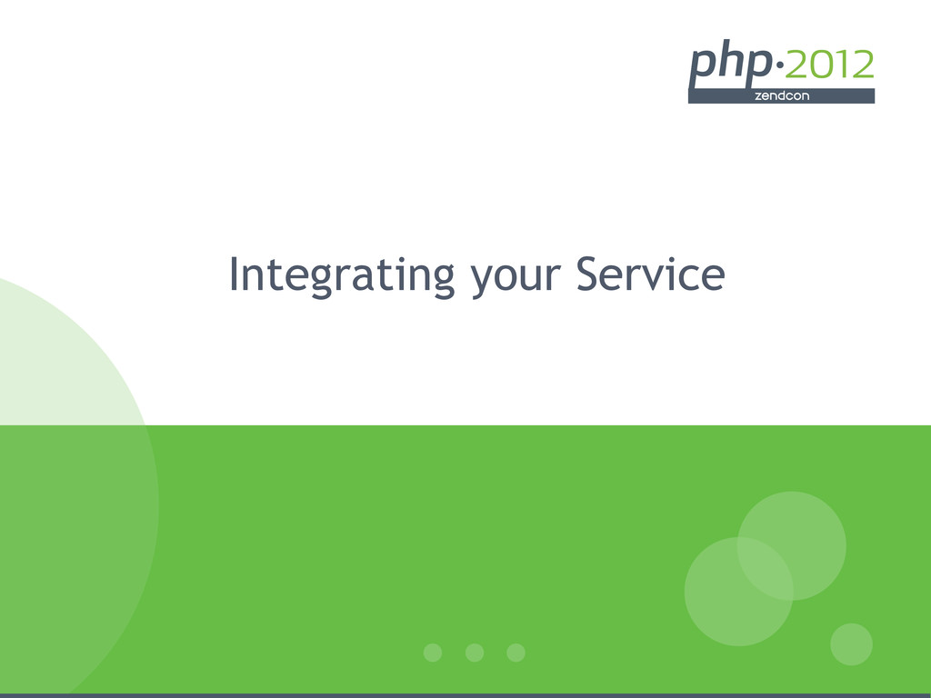 Integrating your Service