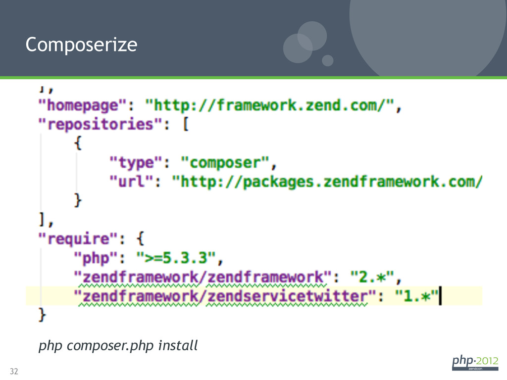 32 Composerize php composer.php install