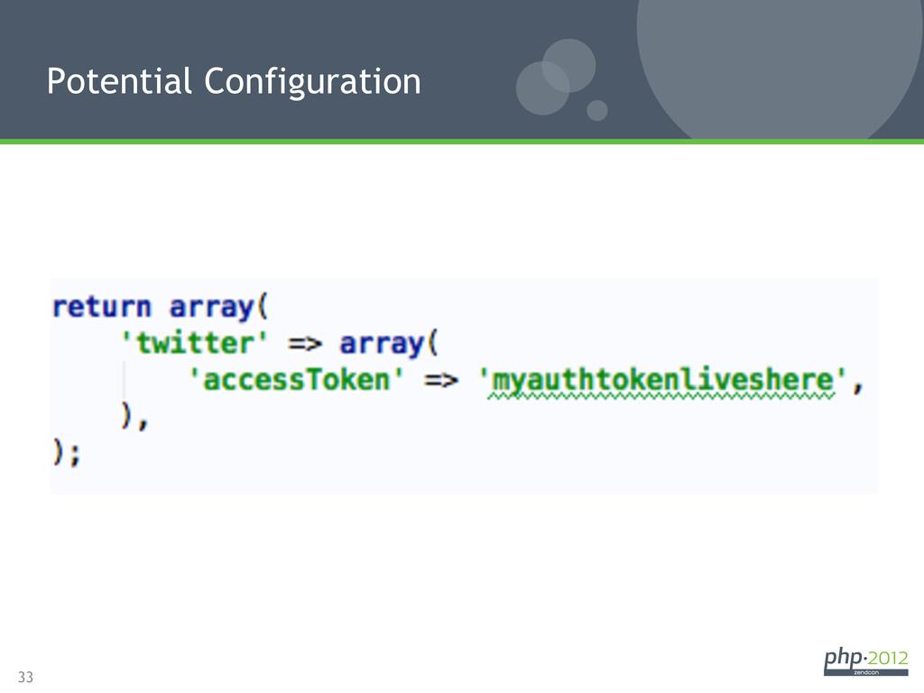 33 Potential Configuration