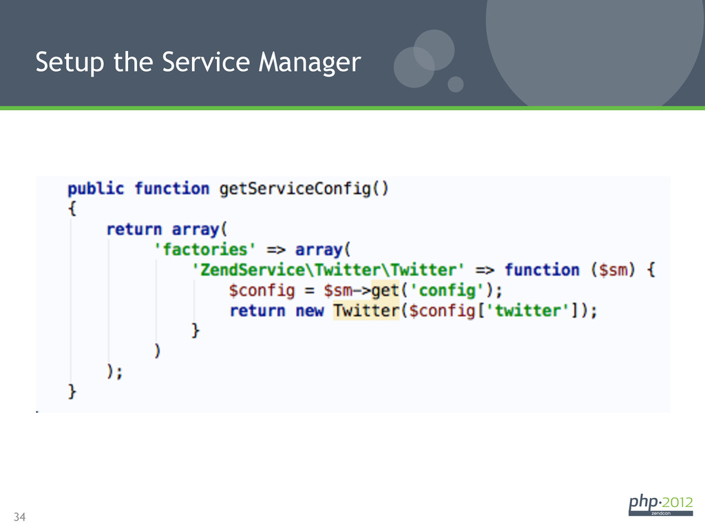 34 Setup the Service Manager
