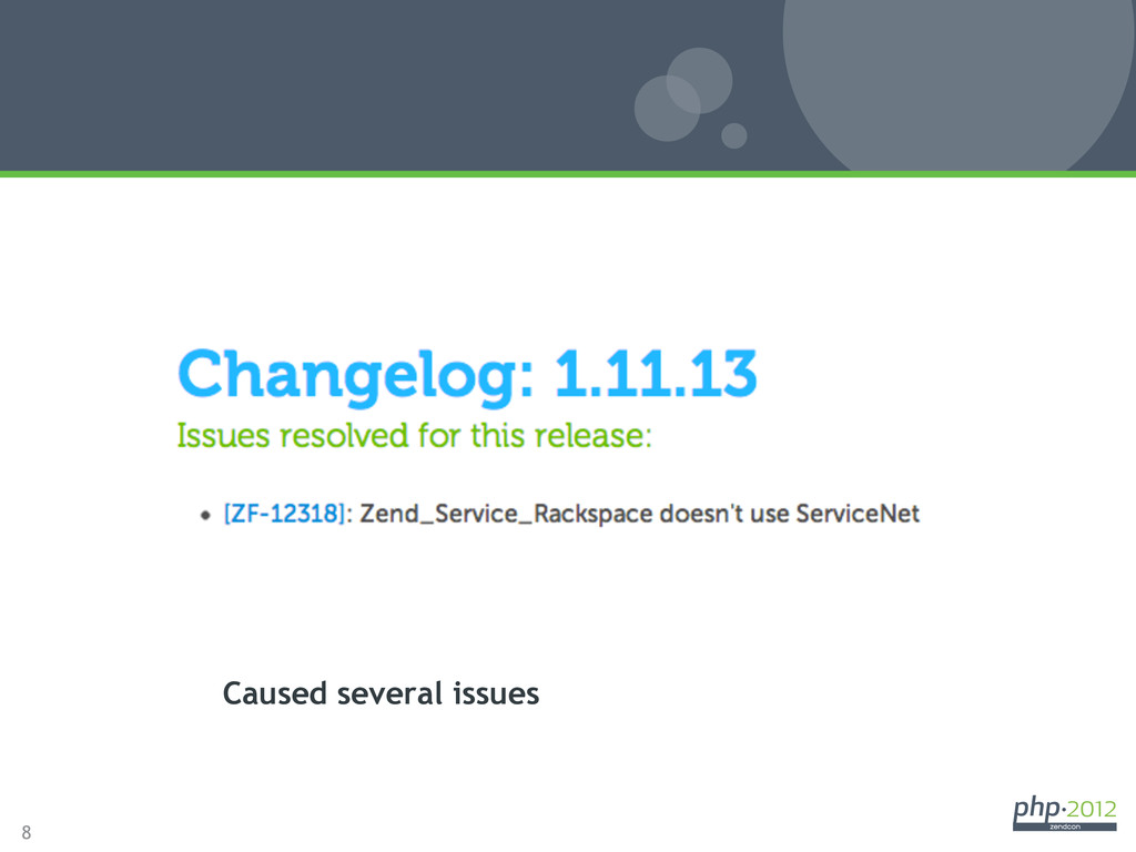 8 1.11.13 Release Caused several issues