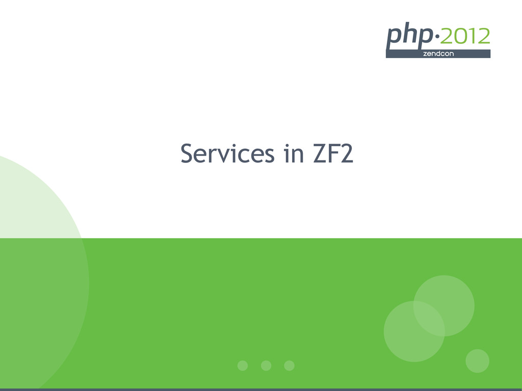 Services in ZF2
