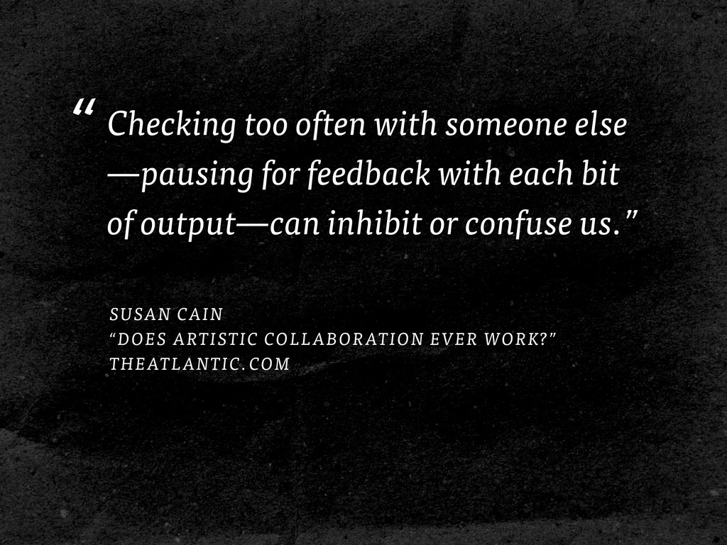 """Checking too often with someone else —pausing ..."