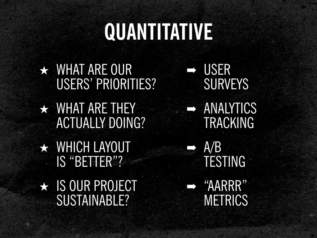 ➡ USER SURVEYS ★ WHAT ARE OUR USERS' PRIORITIES...