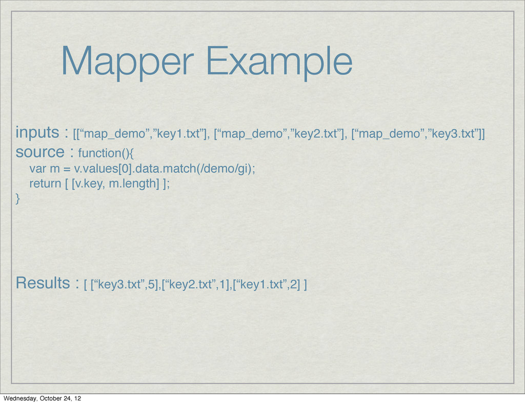 "Mapper Example inputs : [[""map_demo"",""key1.txt""..."