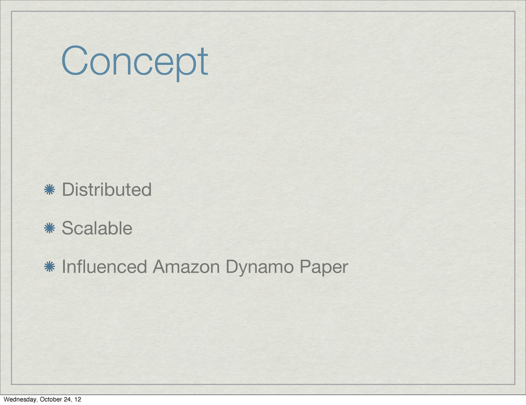 Concept Distributed Scalable Influenced Amazon D...