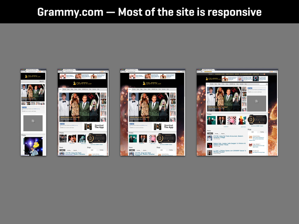Grammy.com — Most of the site is responsive