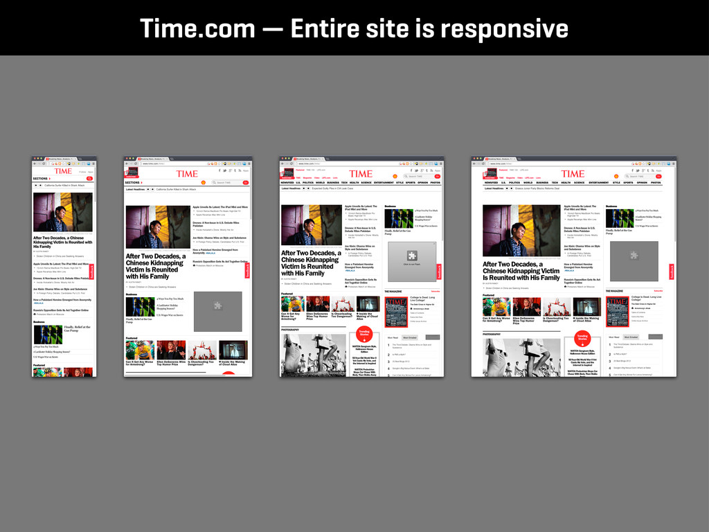 Time.com — Entire site is responsive
