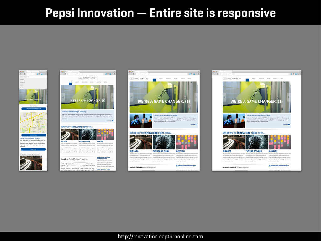 Pepsi Innovation — Entire site is responsive ht...
