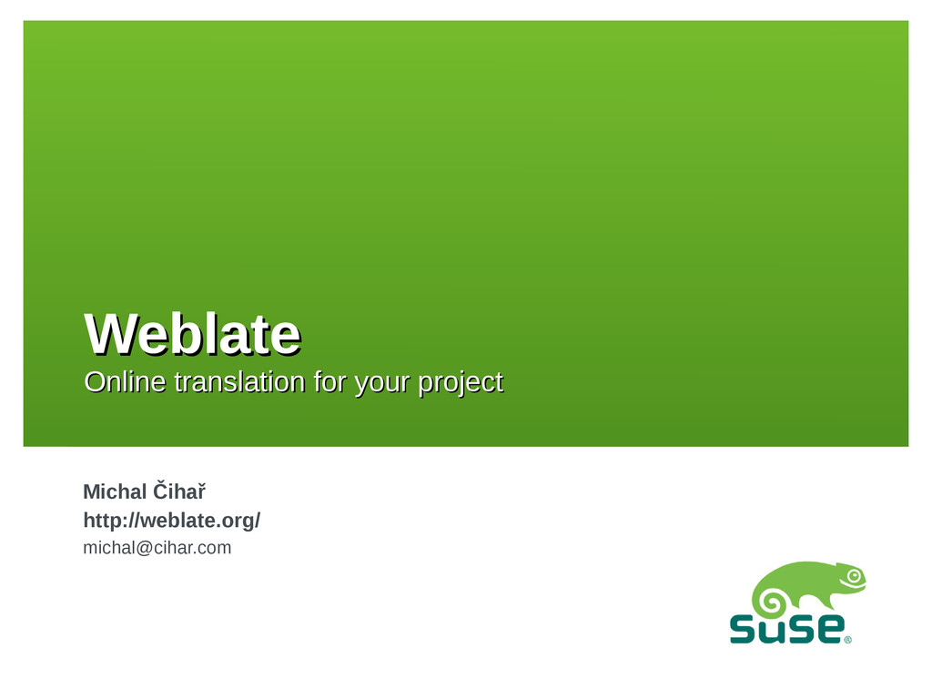 Weblate Weblate Online translation for your pro...